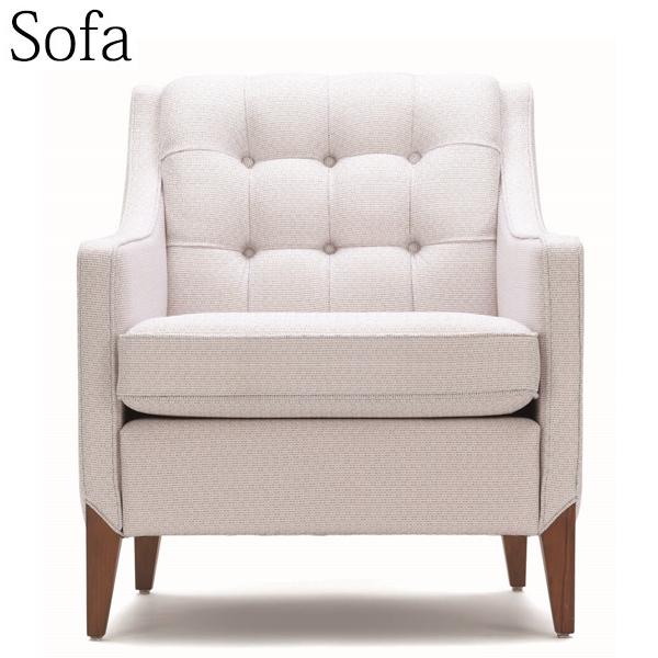ソファ 1人掛け ラウンジチェア ロビーチェア 待合椅子 アームチェア 木製 ビーチウッド AP-0067