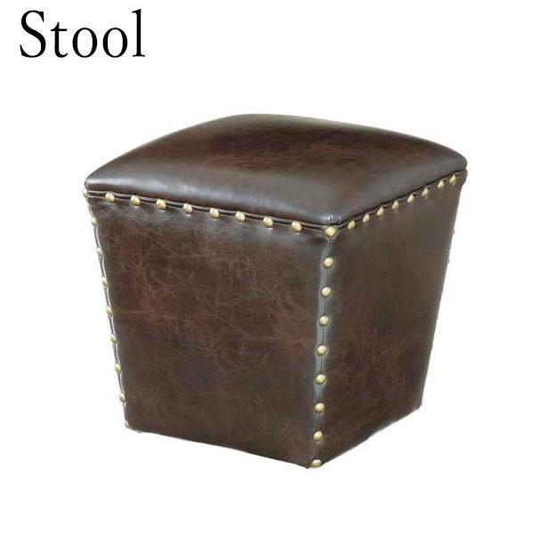 スツール AZ-0169 チェア オットマン 椅子 イス いす 腰掛け インテリア スタッズ付 木フレーム 幅40cm 奥行40cm 高さ41cm