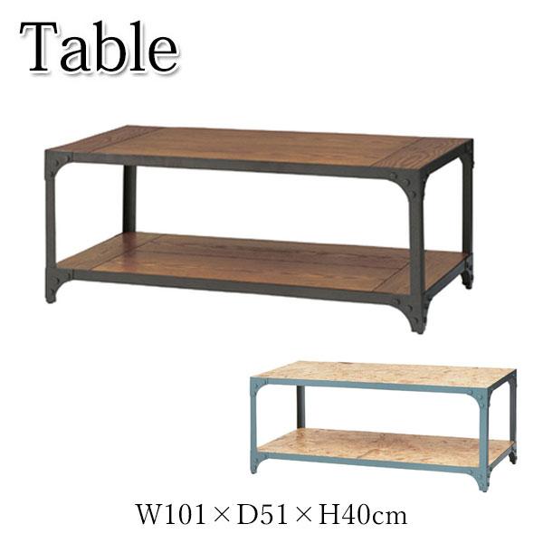 テーブル AZ-0596 ローテーブル センターテーブル リビングテーブル カフェテーブル 角型 机 収納棚付 幅101cm 奥行51cm 高さ40cm