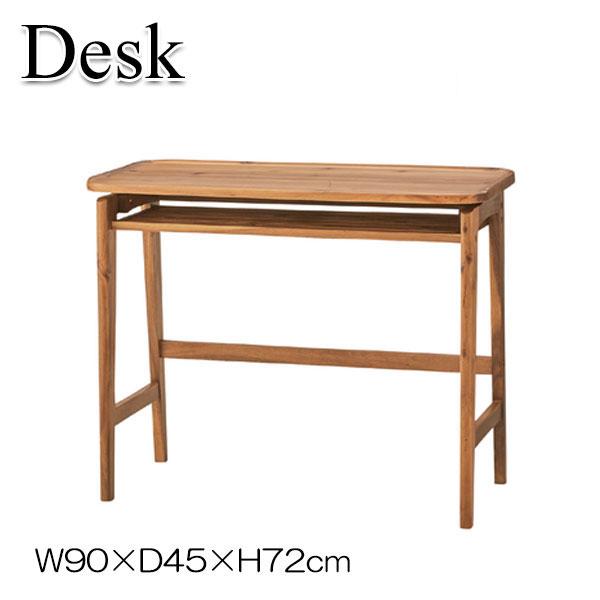デスク 机 文机 サイドテーブル 木製 寝室 アカシア カフェ ホテル AZ-0661 幅90cm ナチュラルブラウン ブラウン