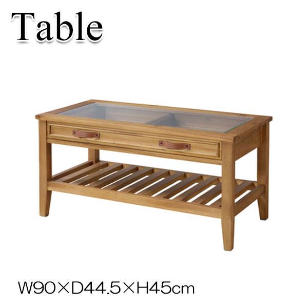 コレクションテーブル AZ-0677 センターテーブル ローテーブル コーヒーテーブル リビング テーブル 机 木製 寝室 カフェ 幅90cm ナチュラルブラウン ブラウン