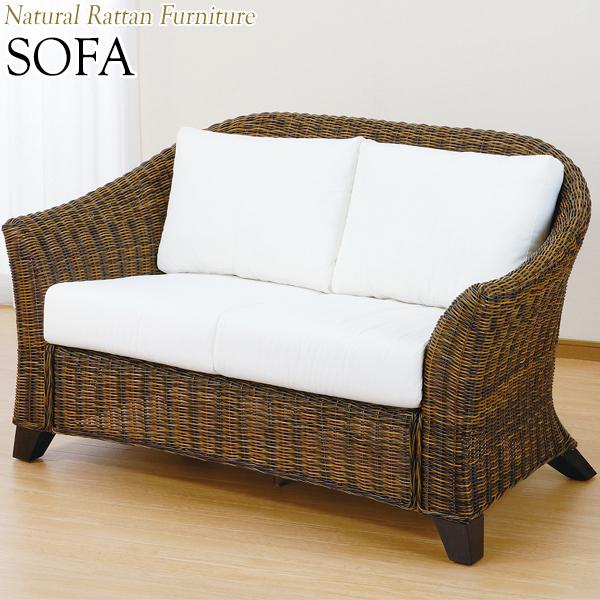 ラブソファー 椅子 ソファ 2人掛 幅155 奥行90 高さ86cm ラタン家具 籐家具 天然素材 IS-0182