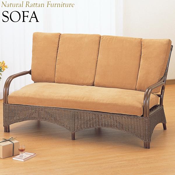 ラブソファー 椅子 2Pソファ 2人用 幅140 奥行77 高さ78cm ラタン家具 籐家具 天然素材 IS-0216