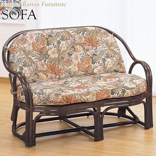ラブソファー 椅子 2Pソファ 2人用 幅108 奥行63 高さ72cm ラタン家具 籐家具 天然素材 IS-0392