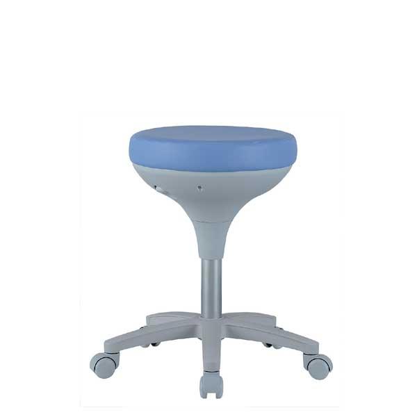 スツール 丸椅子 キャスター付 ブルー 病院 診察 美容院 ネイル エステ キッチン カット 作業椅子 ワーキングチェア 商品番号 KN-0045