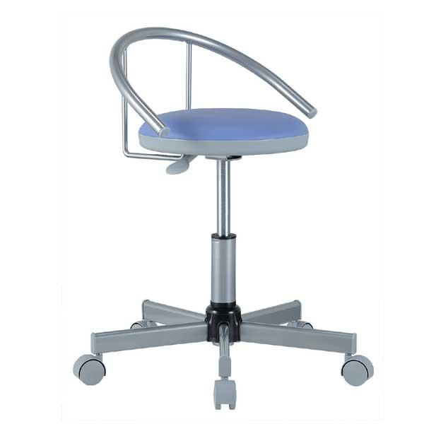 チェア 丸椅子 背付き キャスター付 病院 診察 美容院 ネイル エステ キッチン カット 作業椅子 ワーキングチェア KN-0046