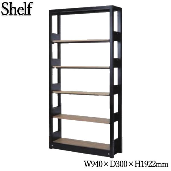 システムキャビネット 棚板5枚 書架 シェルビング 書庫 書棚 シェルフ ラック 木製棚板 増連可能 オフィス 店舗 奥行30cm 高さ約190cm KN-0193