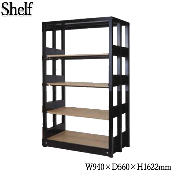 システムキャビネット 棚板8枚 書架 シェルビング 書庫 書棚 シェルフ ラック 木製棚板 増連可能 オフィス 店舗 奥行約60cm 高さ約160cm KN-0208