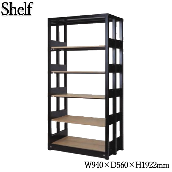システムキャビネット 棚板10枚 書架 シェルビング 書庫 書棚 シェルフ ラック 木製棚板 増連可能 オフィス 店舗 奥行約60cm 高さ約190cm KN-0209