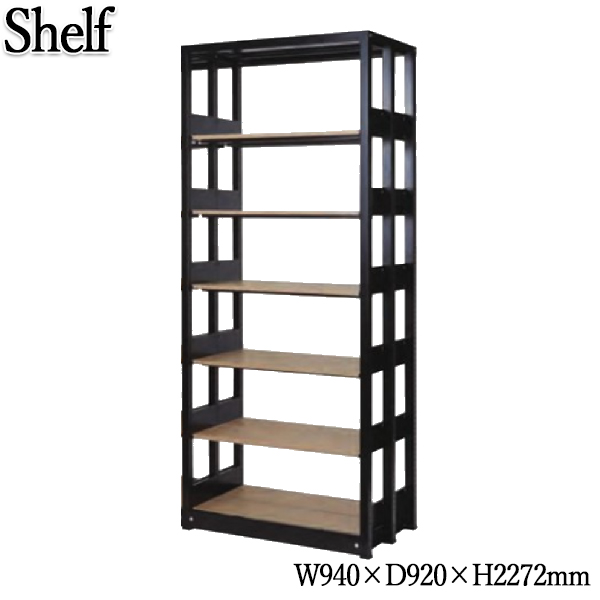 システムキャビネット 棚板12枚 書架 シェルビング 書庫 書棚 シェルフ ラック 木製棚板 増連可能 オフィス 店舗 奥行約90cm 高さ約230cm KN-0214