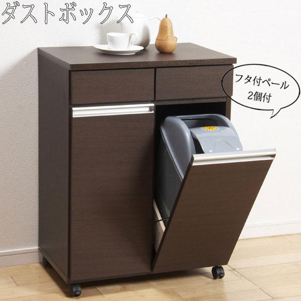 ダストボックス カウンター ごみ箱 キッチン 台所 リビング ダイニング シンプル KR-0213