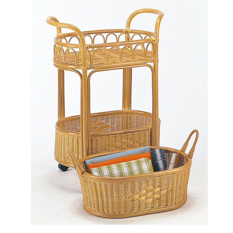 【新品】【今枝商店】【ラタンランドリー】籐家具 今枝商店製 キャスター付きラタンランドリー K-13洗濯物が出し入れしやすいワゴンスタイルです。キャスター付きで移動もラクラク!