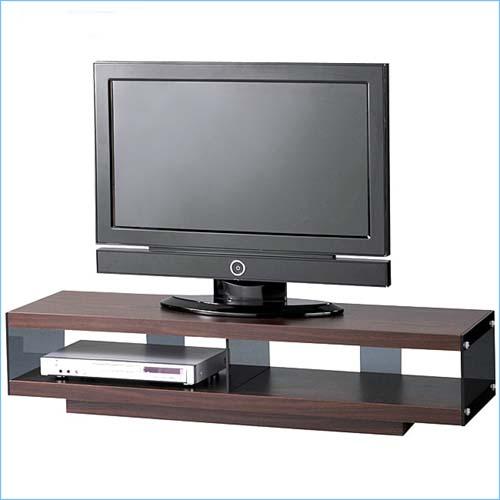 テレビ台 テレビボード ローボード 北欧 ウォールナット 木目 木製 キャスター付き 幅123cm 強化ガラス シックなブラウン キャスター 55型(インチ) 送料無料