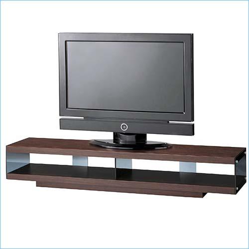 送料無料 テレビボード スタイリッシュなテレビボード 幅153cm 強化ガラス仕様のテレビ台 シックなブラウン 目隠しキャスター付き テレビ台 ローボード