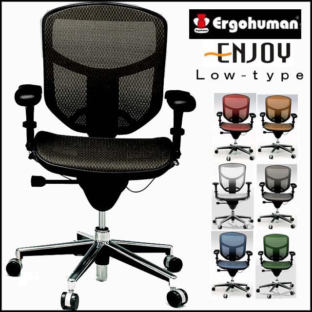 パソコンチェア 疲れにくい パソコンチェア メッシュ パソコンチェアー オフィスチェア おしゃれ ホワイト 腰痛 緩和 椅子 エルゴヒューマン エンジョイ ロータイプ EJ-LAM イス チェア パソコンチェア 肘付き 椅子 イス 肘掛け