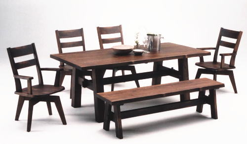 Dining Table X 1 Chair Swivel Elbow With No 2 Bench