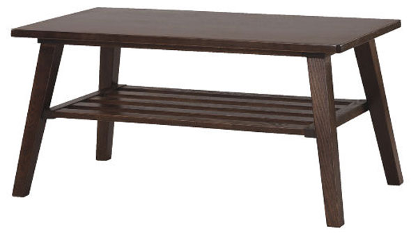 コーヒーテーブル リビング Moti~モディ~ ロー&センターでもOK 天然木を生かしたシンプルなテーブル モダンなブラウン テーブル 木製脚 パーツ 送料無料