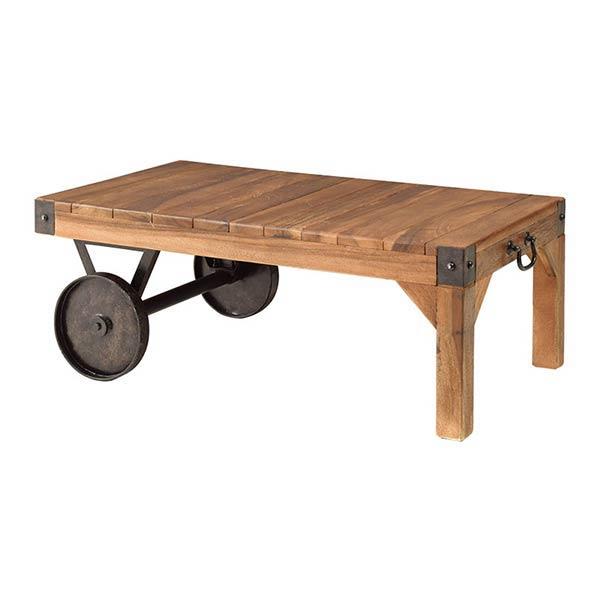 ローテーブル おしゃれ リビングテーブル センターテーブル ローテーブル ローテーブル az4-ttf-117 トロリー テーブル S 完成品 【z-a04-1a】