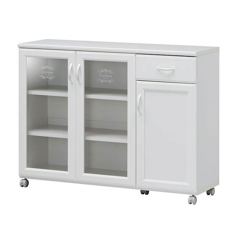 キッチンカウンター キッチンワゴン カウンター収納 カウンター sil-cec-8511cw 【z-b01-5a】