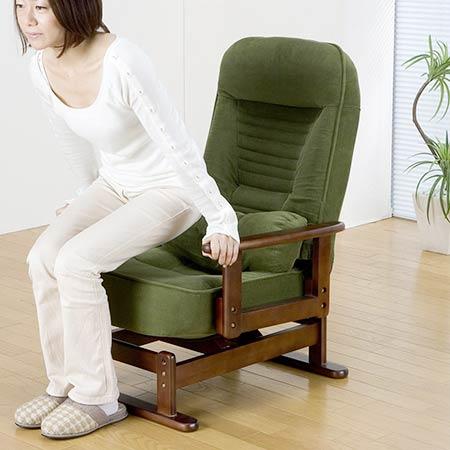 折り畳み式木肘回転座椅子 ラウンジチェア パーソナルチェア 楽々チェア リビングチェア リラックス 父の日 母の日 介護 おしゃれ オシャレ 激安 sun-sp-823r 【z-a01-9a】