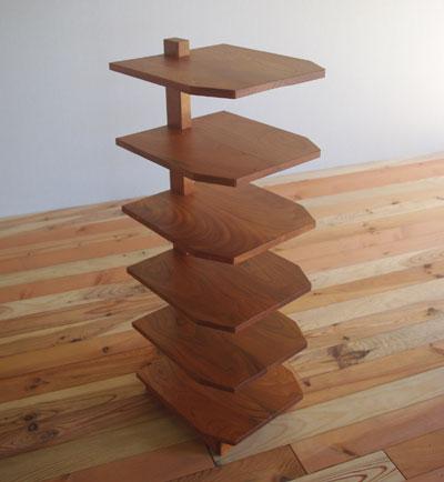 【家具製造販売】 欅(けやき)でつくったスリッパラック