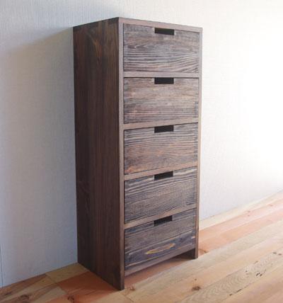 【家具製造販売】古材でつくった地松1×5チェスト(幅400)