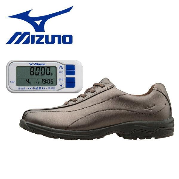 ミズノ(MIZUNO) ウォーキングシューズ レディース&活動量計 M55サイズ22.5cm-24.5cm LD40 ブロンズ ビジネスシューズ ウィメンズ 女性 シューズ 靴 スニーカー 軽い LD-40 【送料無料】