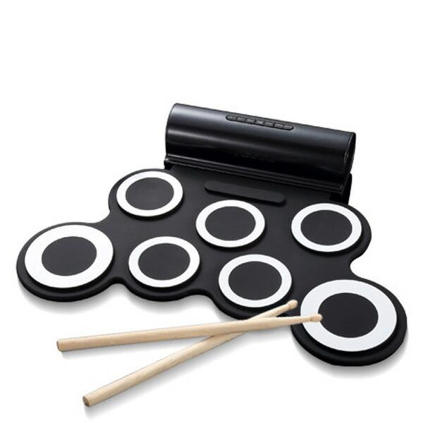 スマリー(SMALY) ロールアップドラム 電子ドラム (スピーカー内蔵)フットペダル/ドラムスティック付属 SMALY-DORAM-1 ドラム 楽器 練習 バスドラム 音楽 演奏 携帯式 ドラムスティック 【送料無料】