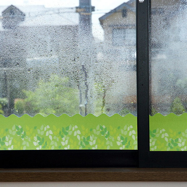 ユーザー(USER) 窓に貼る結露吸水シート U-Q678 グリーンリーフ 結露対策 窓用デコレーション  【送料無料】