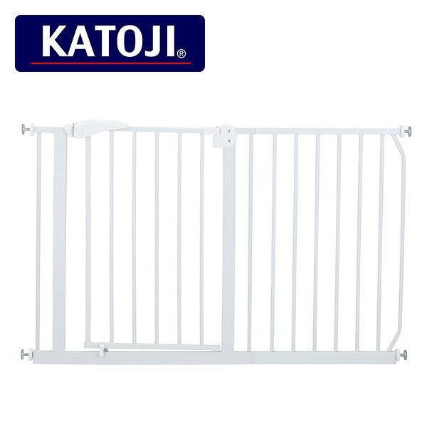 カトージ(KATOJI) (設置幅約120-130cm) ベビーセーフティオートゲート スチール ベビーゲート本体+45cm拡張
