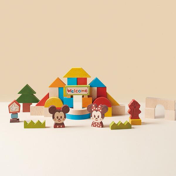 KIDEA&BLOCK ミッキー&フレンズ TYKD00301 赤ちゃん ベビー おもちゃ 木のおもちゃ 知育玩具 木製おもちゃ 木製玩具 ディズニー キャラクター つみき ミッキー ミニー KIDEA 【送料無料】