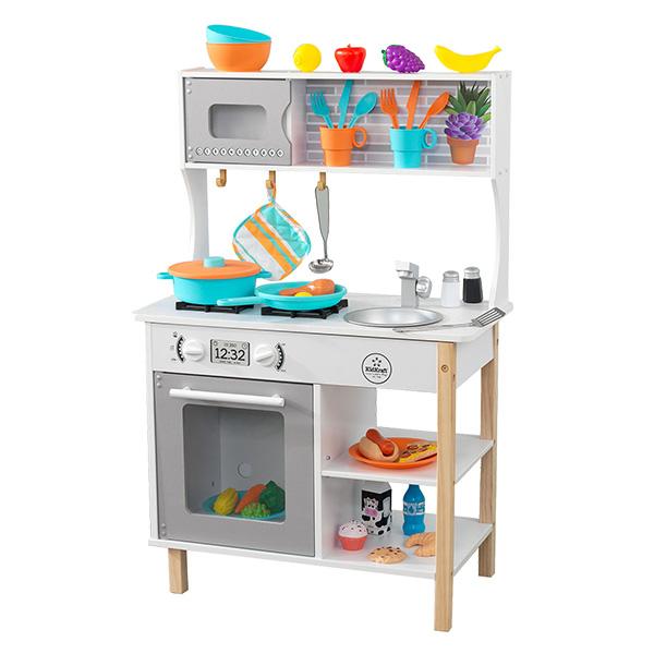 初めてのキッチン 木製 おままごと 53370 ごっこ遊び おままごと ままごと ままごとセット 知育玩具 玩具 おもちゃ 赤ちゃん ベビー キッチン フライパン 台所 木のおもちゃ KidKraft(キッドクラフト) 【送料無料】