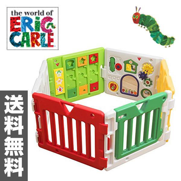 日本育児 EricCarle(エリックカール) はらぺこあおむし ミュージカルキッズランドDX折りたたみ 扉付き 5010151001 ベビーサークル 赤ちゃん 知育 プレイルーム キッズランドスクエア プレイヤード 【送料無料】