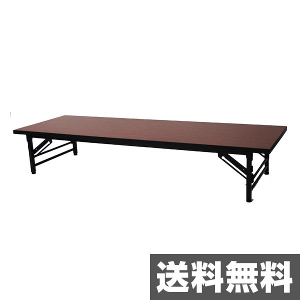 エイ・アイ・エス(AIS) 会議テーブル ロータイプ(幅180奥行き60) KA-1860S(BR) ブラウン【送料無料】