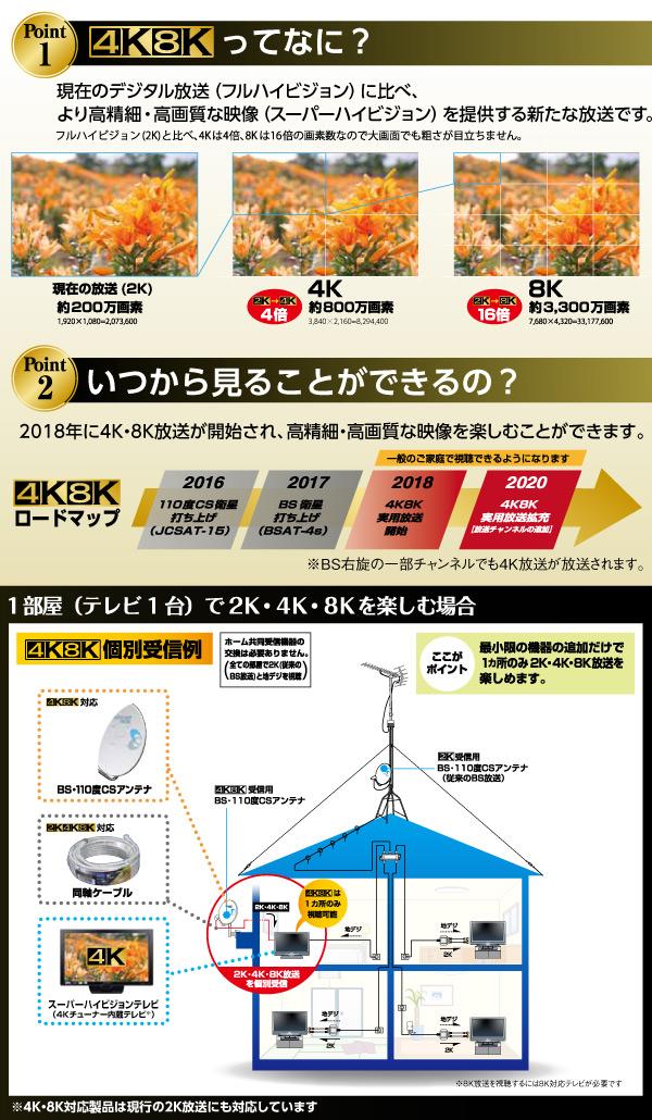 DXアンテナ 2分配器(全端子通電形) 出入力ケーブル付き (2K 4K 8K対応) 2DL2WS(B) 二分配器 4K対応 8K対応 F形 アンテナ テレビ TV 分配機 アンテナ分配器 入力 出力 アンテナ分配機