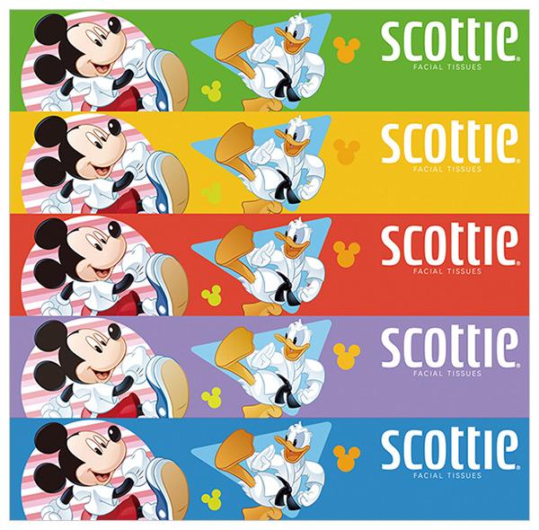 日本製紙クレシア スコッティ ティッシュペーパー ディズニー 320枚(160組)5箱×12パック(60箱) 41293 ティシュー ティシュペーパー ティッシュボックス キャラクター 消耗品 日本製