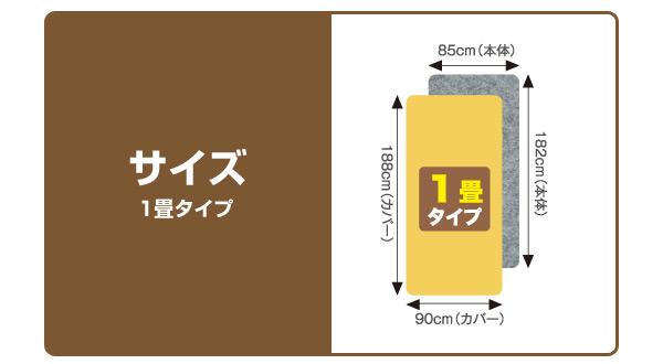ゼンケン(ZENKEN) 電磁波カット 電気ホットカーペット(省エネ・高断熱タイプ)1畳 カバー付き ZC-11K 電気カーペット 床暖房カーペット ホットカーペット ホットマット