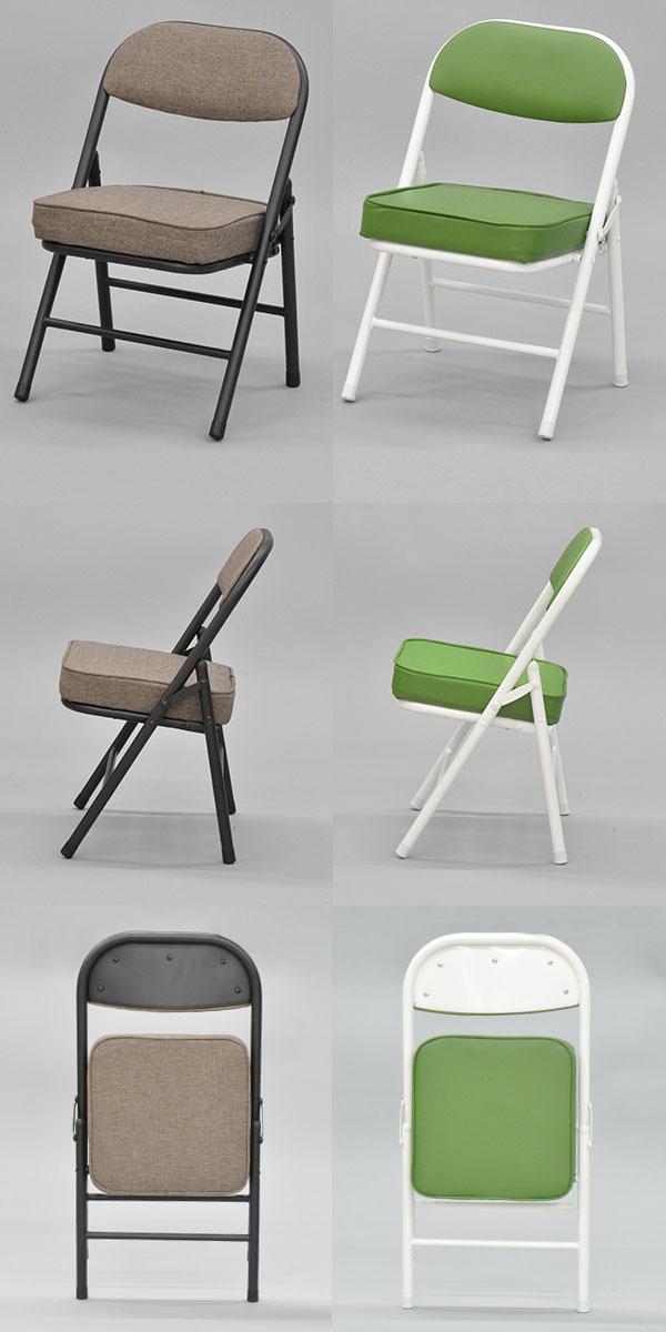 『折りたたみ椅子ロータイプ』(AATL-単品)幅34cm 奥行き34cm 高さ51.5cm 座面高さ31cm  低い座面の背もたれ付き折りたたみチェア 軽量(軽い)で小さいミニサイズ 保育室 キッズ子供用椅子 ブラウン グリーン 完成品