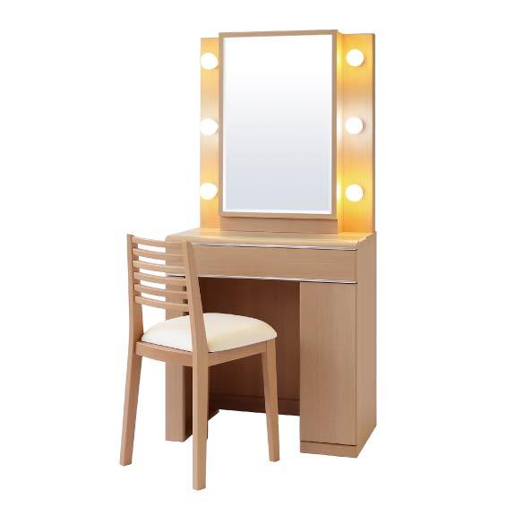 実売価格はさらにお安く【卸】価格はお問い合わせ下さい。ディンプル じょゆどれ 女優 一面鏡 ドレッサー 鏡台 化粧台