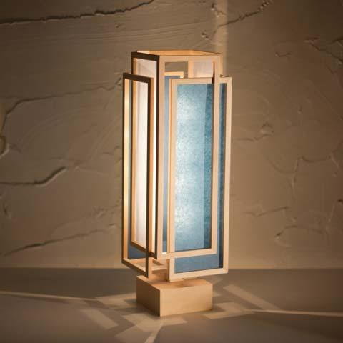 和照明 旬 shun_L スタンドライト 【タイプD:白×藍】 木製フレーム 強化和紙 ペンダントライト 国産 和風照明 木組+和紙(ワーロン) インテリア照明 【送料無料】