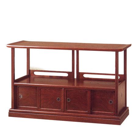 YK416 古代 KODAI 民芸家具 シリーズ 置床 おきどこ 2号 和風 置き床 欅 床の間 飾り棚 木製 リビングボード 完成品 サイドボード 高級 国産 日本製 うるしん