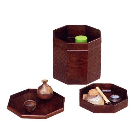 YK570 古代 八角膳 一人膳 和風 無垢 高級 国産 日本製 うるしん