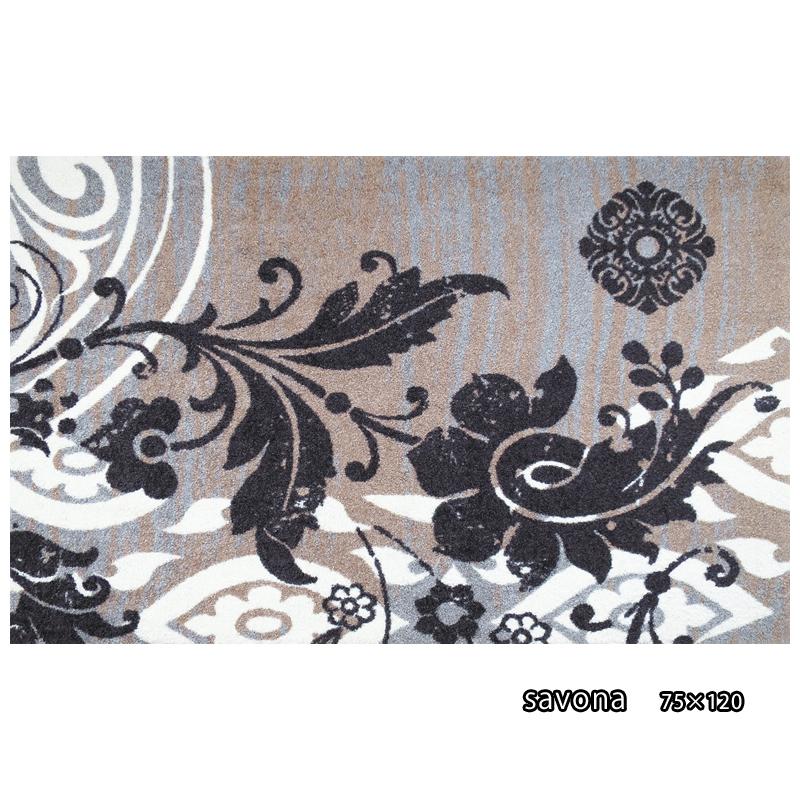 リビングマット 屋外 室内 屋内 洗える 薄型 居間マット モダン 丸洗い ラグマット ウォッシャブル マルチマットIAA-6862(ウォッシュアンドドライ)Savona 75x120cm