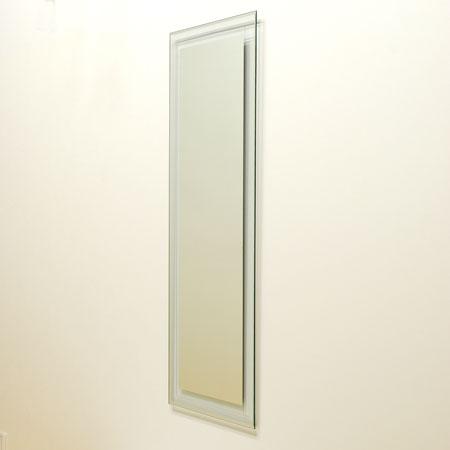 シンプルミラー NNプラチナVカット1200鏡 フレームレスミラー インテリアミラー インテリア鏡 ミラー壁掛け 鏡壁掛け シンプルミラー ウォールミラー