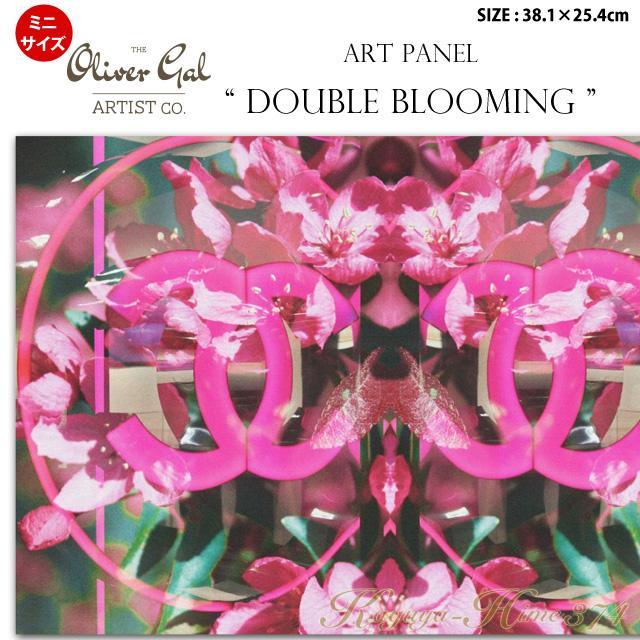 【代引き不可】【ミニサイズ】アートパネル「DOUBLE BLOOMING」サイズ38.1×25.4cm ファッションの絵画 ブランドモチーフポップアート アートフレーム The Oliver Gal Artist Co 渡辺美奈代セレクト