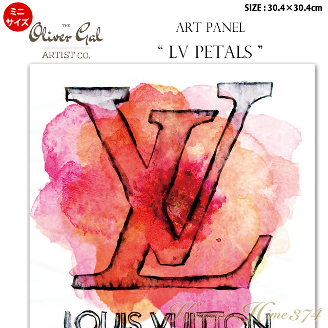 【代引き不可】【ミニサイズ】アートパネル「LV PETALS」サイズ30.4×30.4cm ファッションの絵画 ブランドモチーフポップアート アートフレーム The Oliver Gal Artist Co 渡辺美奈代セレクト