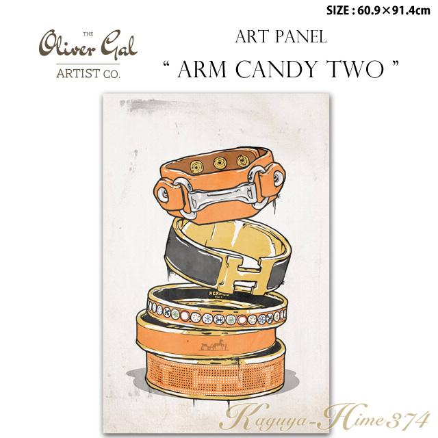 【代引き不可】アートパネル「ARM CANDY TWO」サイズ60.9×91.4cm ファッションの絵画 ブランドモチーフポップアート アートフレーム The Oliver Gal Artist Co 渡辺美奈代セレクト