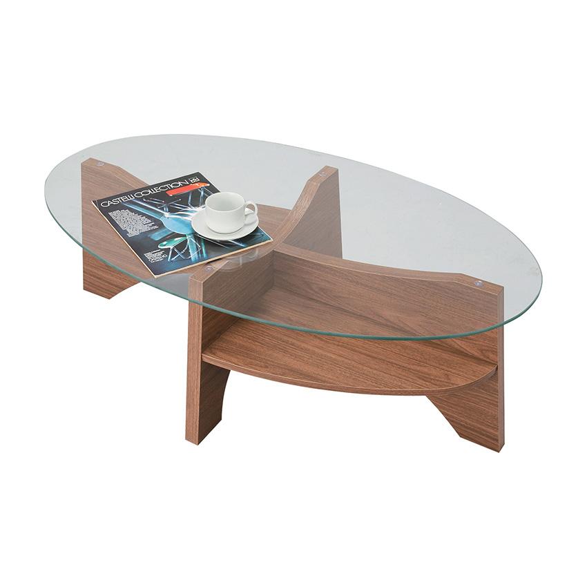 「オーバルテーブル」 ウォールナット・ナチュラル コーヒーテーブル ローテーブル 【送料無料】