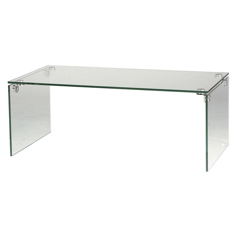 「ガラステーブル」 クリア・ブラック ローテーブル センターテーブル モダン