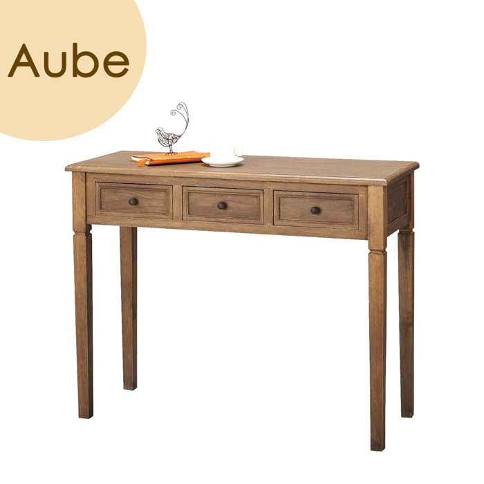 Aube(オーブ) 「コンソール」 ブラウン 天然木(桐) コンソールテーブル 【送料無料】